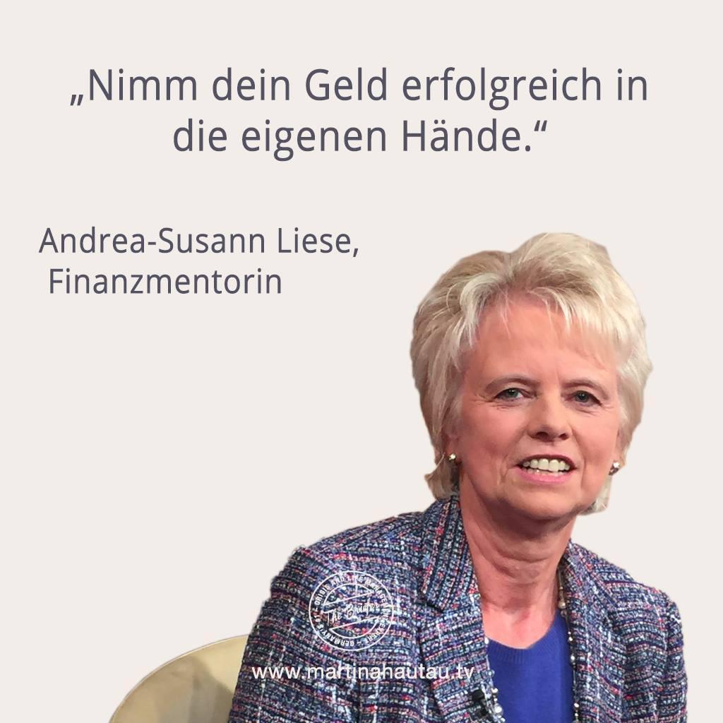 Finanzmentorin Andrea-Susann Liese hilft fairen Anlegern zu lernen wie sie ihr Vermögen selber ethisch sinnvoll vermehren können und frei sind von teuren Beratern, die nicht im Sinne des Kunden handeln.